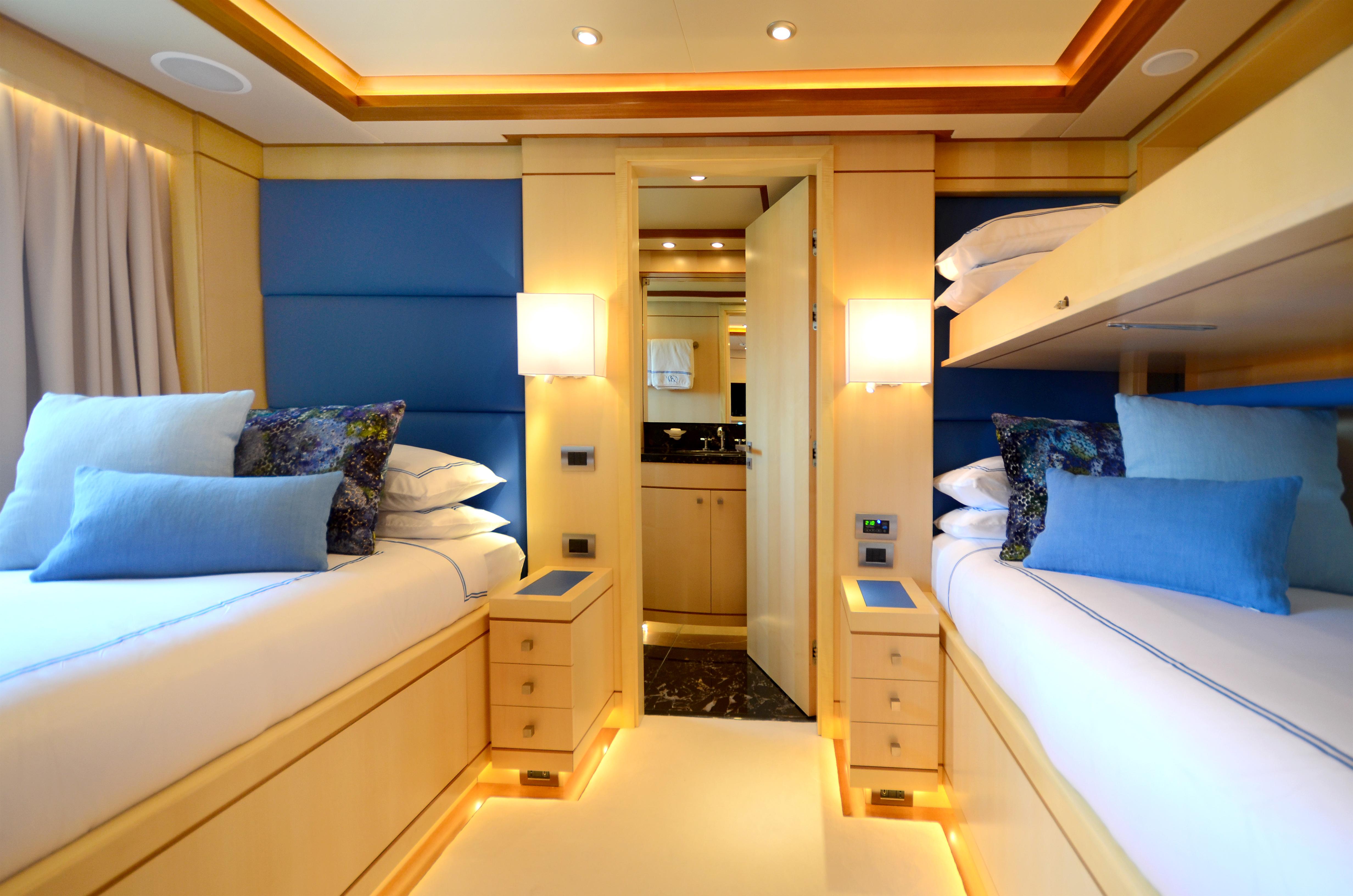 Twin blue cabin