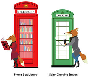 Urban Fox - IconicBritish Phone Box - Blog Button
