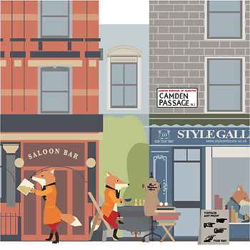 Urban Fox  Angel Islington Urban Exploration Project Button