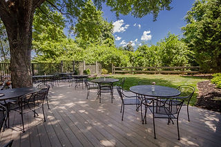 Outdoor seating area of Knob Hill House