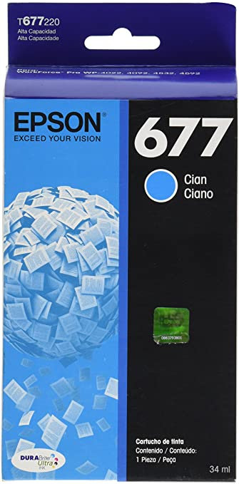 Cartucho de Tinta Cian (Alta Capacidad) Epson 677