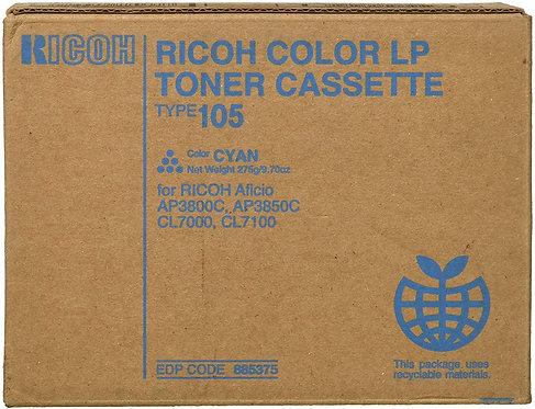 TONER CYAN RICOH CL7000/7100 T105 885375