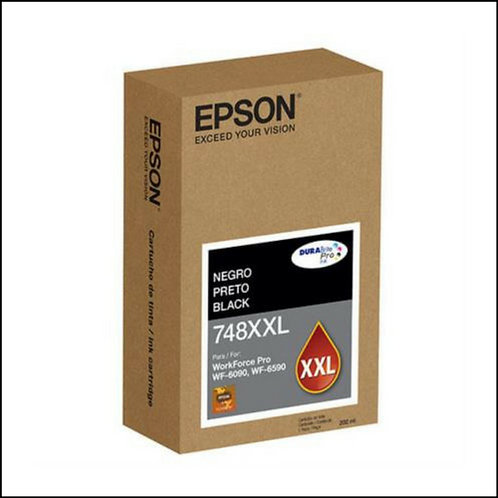 Cartucho de Tinta Negro Extra Alta Capacidad Epson T748XXL 6090 6590