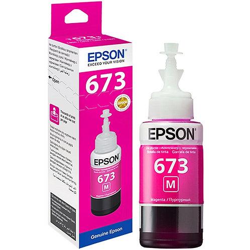 Botella de Tinta Epson T673 MAGENTA