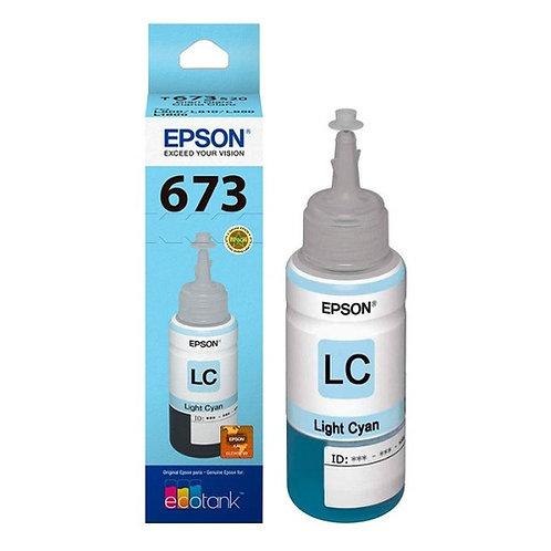 Botella de Tinta Epson T673 CYAN LIGHT