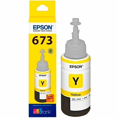 Botella de Tinta Epson T673 AMARILLO