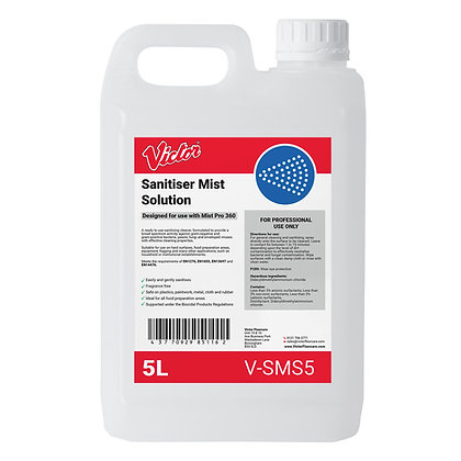 Victor Sanitiser Mist Solution - V-SMS5 - 5 Litre