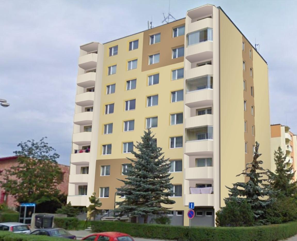 Realizace sanace fasády pro BD Dukovanská, Třebíč