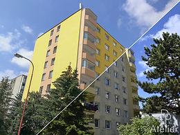 Sanace fasády BD Dukovanská, Třebíč