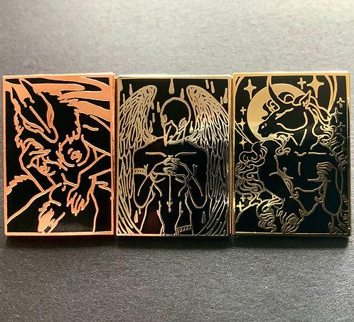 Trans/ nonbinary pride Hard enamel pin set
