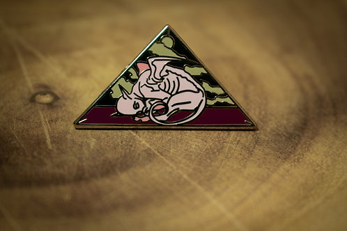 baby sphinx hard enamel pin