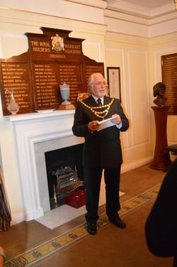 New Members Evening Derek Bishop speech