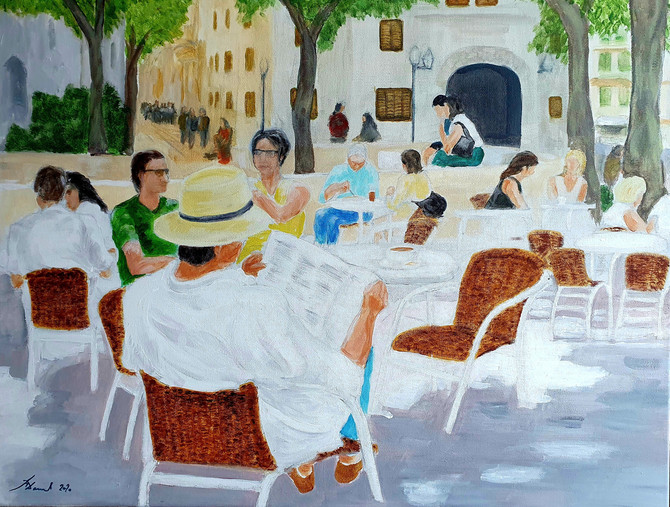 Cafe life on thge terrace of Cafe Soller