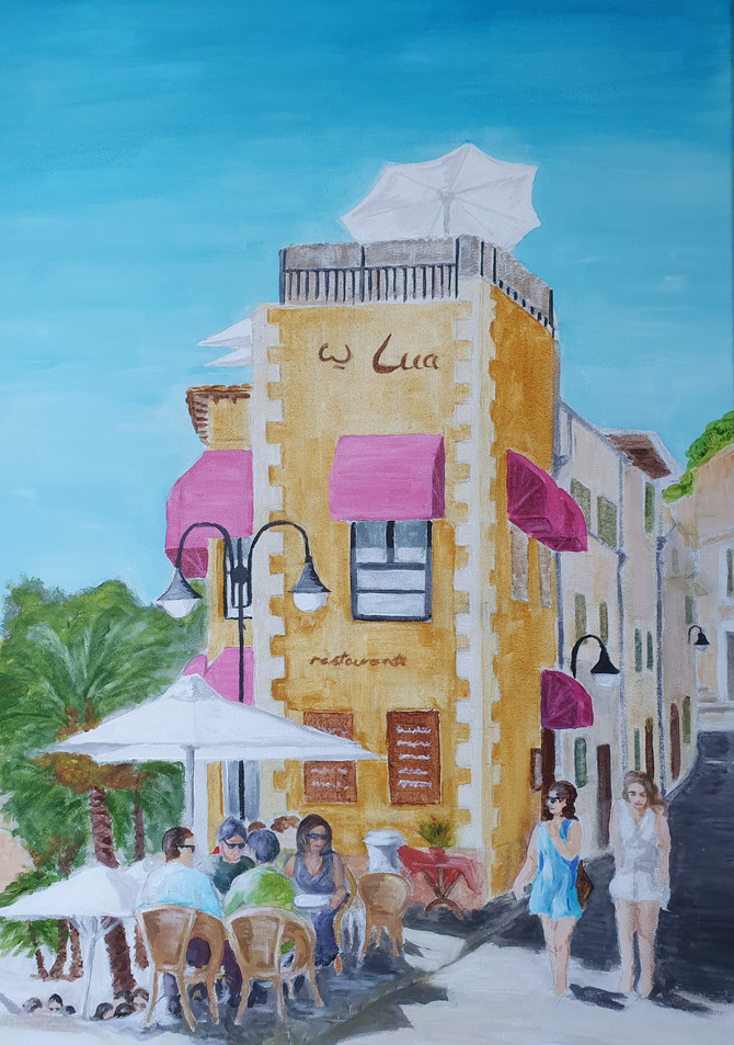 Cafe Scene in Port of Soller