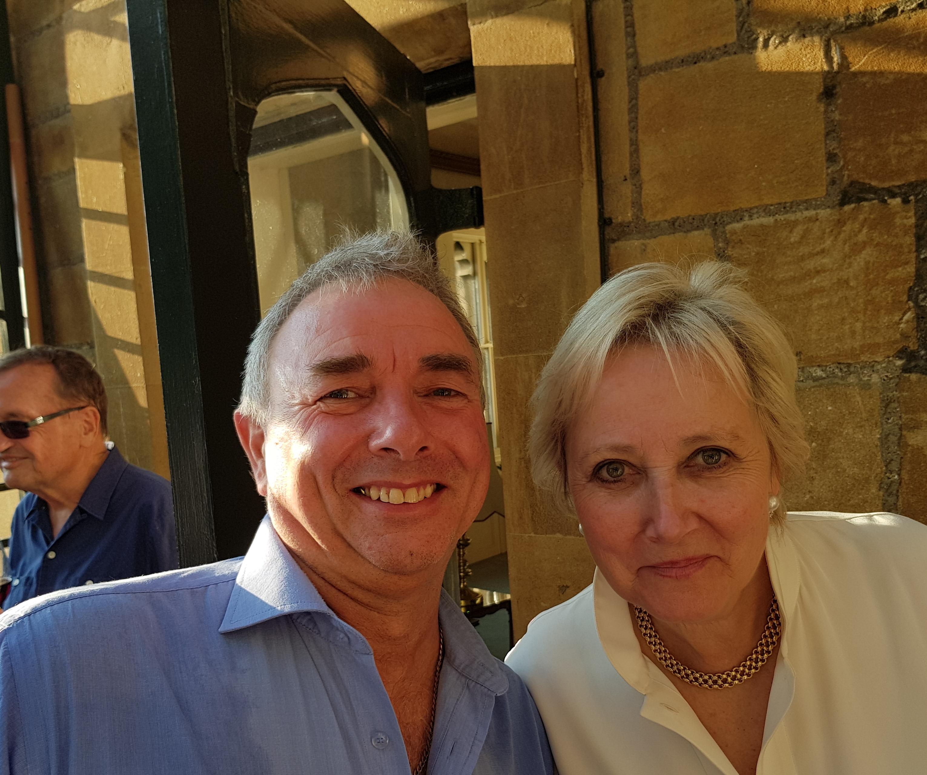 Kevin Giddings and Pamela Harper