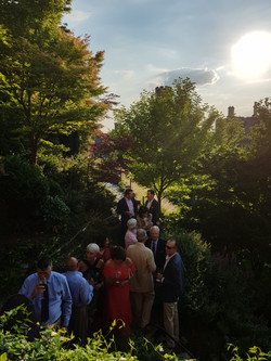 Social gathering on the gardens