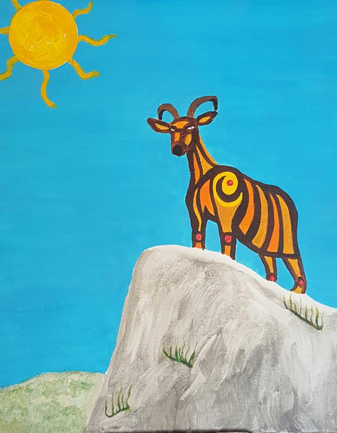 'Cabra de montaña mallorquina en la cima del mundo'