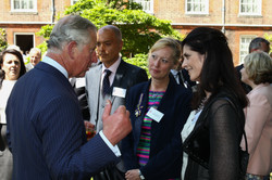 The Prince of Wales meets Annie Quigley, Bibliophile and Sally Mangum