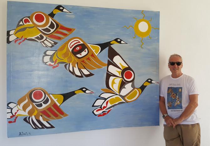 'Grandes pájaros que vuelan a través del cielo'