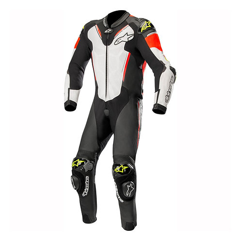 Alpinestars Atem V3 1 Piece Leather Suit White Red & Yellow