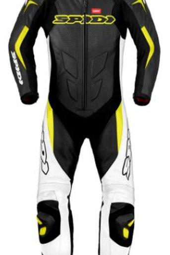 Spidi GB Supersport Wind Pro Leather Suit-Black/White/Yel