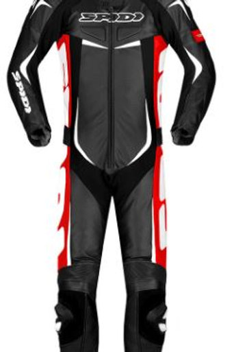 SPIDI IT TRACK WIND PRO LEATHER SUIT RED-BLK