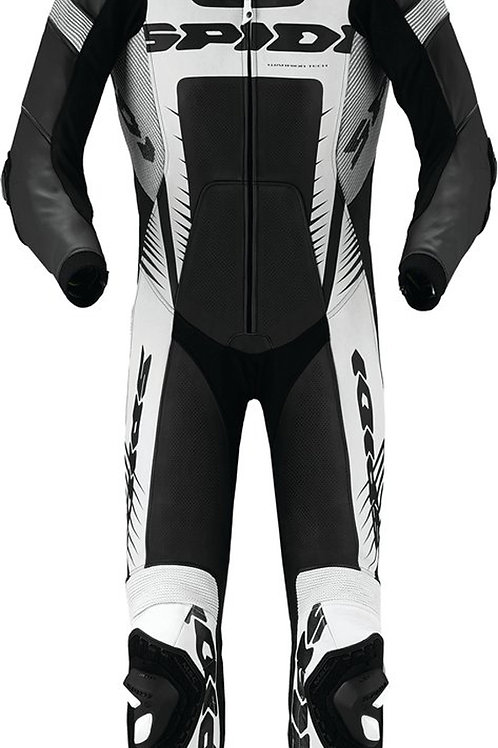 Spidi Warrior Wind Pro Leather Suit-Blk/Wh/Sil