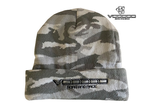 VOODOO BRANDED BEANIE - CAMO WHITE - GREY