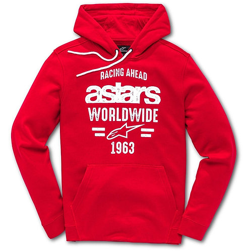 ALPINESTARS RED RACING HOODIE