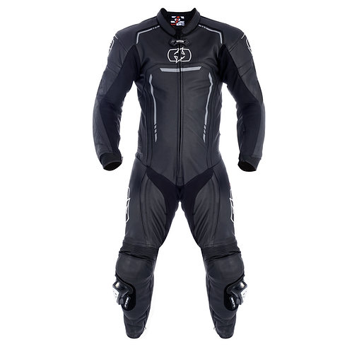 Oxford Stradale Men's 1 Piece Leather Suit BlacK