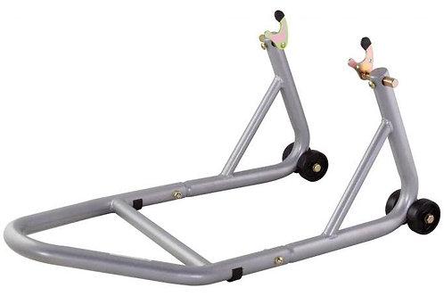 BikeTek Race Aluminium Bobbin Fitment Rear Track Paddock Stand - Grey