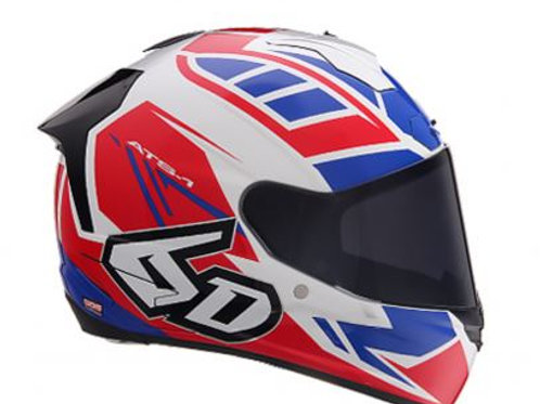 6d HELMETS ATS-1R RED-WHITE-BLUE