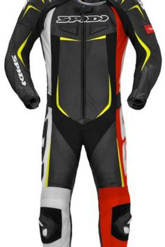 SPIDI IT TRACK WIND PRO LEATHER SUIT RED-YELLOW-BLK