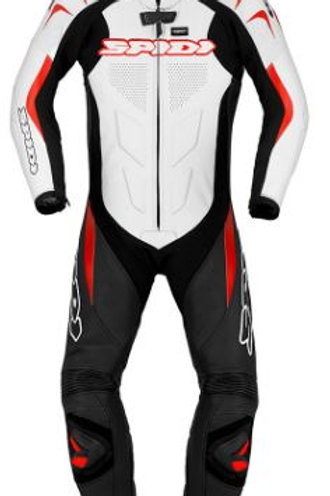 Spidi Supersport Wind Pro Leather Suit-Black/White/Red