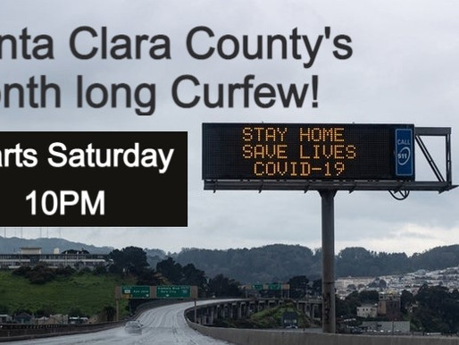 Monthlong curfew to start in Santa Clara County Saturday night