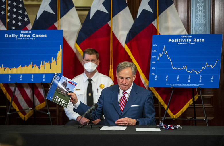 Texas Governor Urges people to stay home as the number COVID19 cases surge