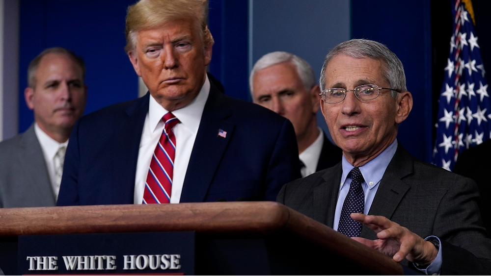 Fauci warns of 'disturbing' coronavirus resurgence as president rages at 'lowlifes' and brags about non-existent missiles