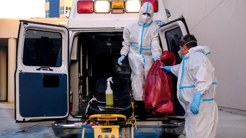 he United States on Thursday recorded more than 1,100 deaths from COVID-19, marking the third straight day the nation passed that grim milestone as the pandemic escalates in southern and western U.S. states.