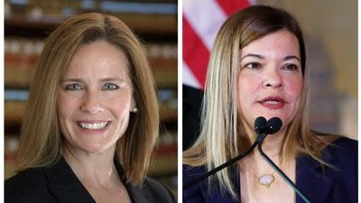 Amy Coney Barrett of the United States Court of Appeals for the Seventh Circuit in Chicago and Barbara Lagoa of the 11th Circuit in Atlanta