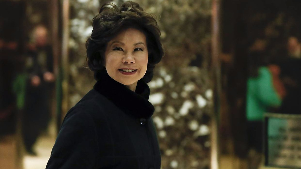 Elaine Chao entering Trump Tower on Nov 21, 2016 WSJ
