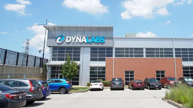 The headquarters of testing firm DYNALABS are seen in St Louis, Missouri, U.S., July 9, 2020. REUTERS/Lawrence Bryant