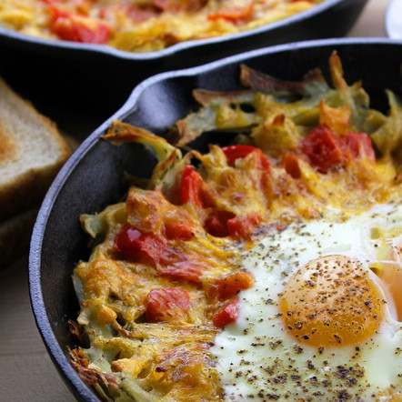 Autumn Home Fries                    with a Fried Egg