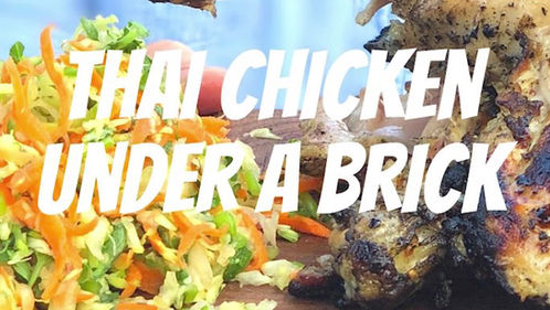 Thai Chicken Under a Brick