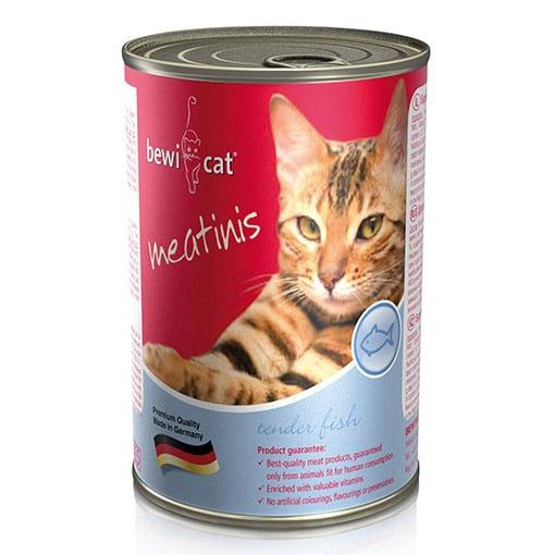 שימורי מזון חתולים Bewi Cat – דגים 400 גרם