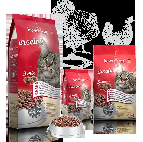 """בווי קט קרוקיניס מיקס 10 ק""""ג מזון פרימיום לחתולים"""