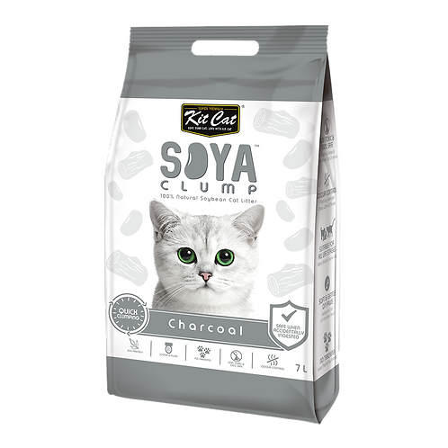 חול חתולים סויה בניחוח פחם