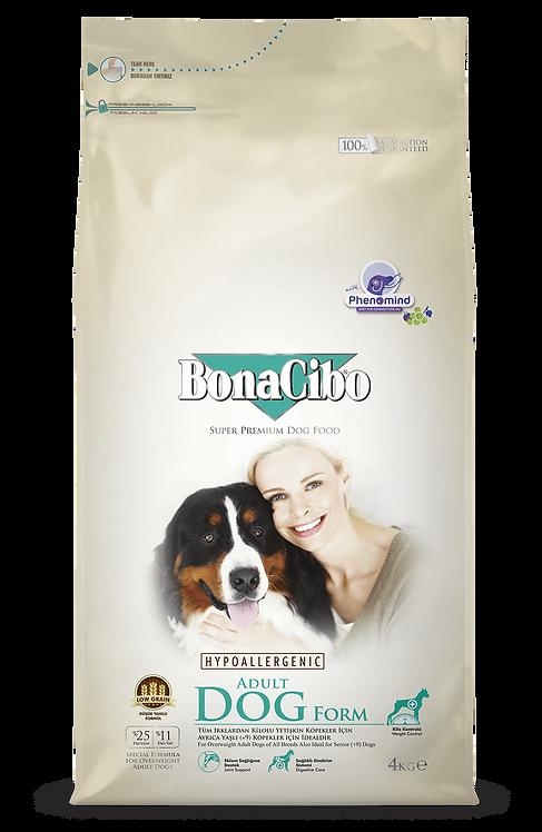 """בונאסיבו מזון לכלבים בוגרים הסובלים מעודף משקל עוף 15 ק""""ג"""