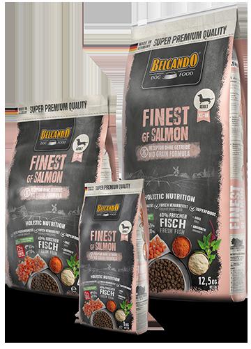בלקנדו פיינסט סלמון נטול דגנים מזון לכלבים ללא דגנים 4 ק״ג 12.5 ק״ג