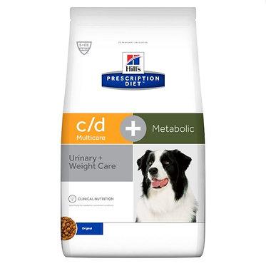 "c/d | Hill's Prescription Diet מולטיקייר + מטבוליק לכלב, 12 ק""ג"