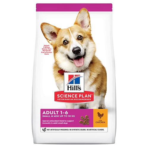"""הילס לכלב בוגר מגזע קטן (עם עוף), 3 ק""""ג"""